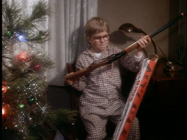 Ralphie from A Christmas Story and his Red Ryder BB Gun